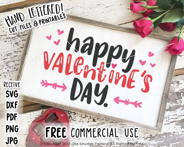 Happy Valentine's Day SVG & Printable
