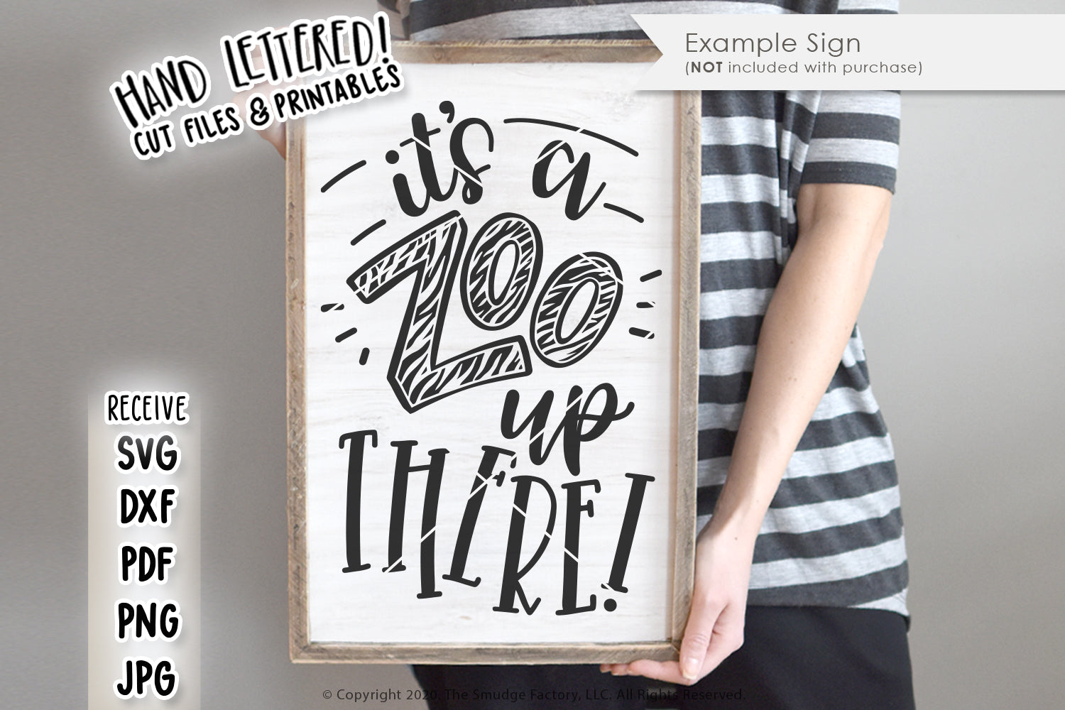 It's A Zoo Up There SVG & Printable