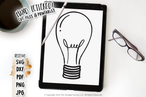 Light Bulb SVG & Printable