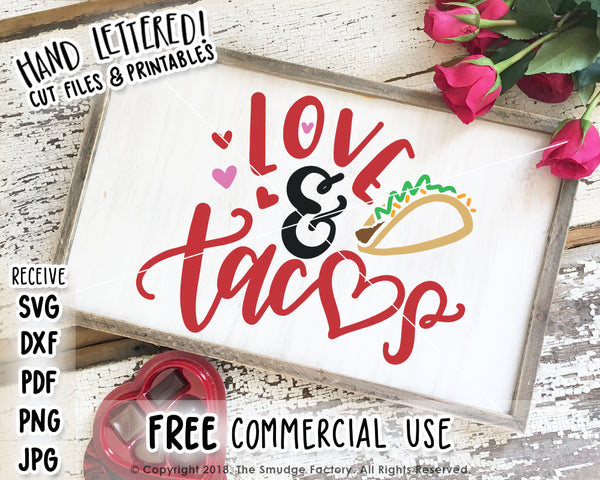 Love & Tacos SVG & Printable