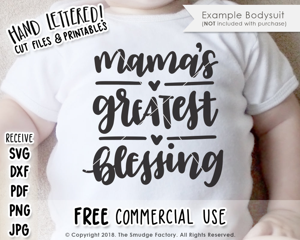 Mama's Greatest Blessing SVG & Printable