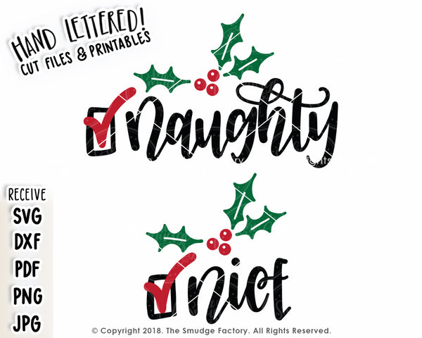 Naughty Or Nice SVG & Printable