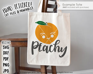 Peachy SVG & Printable