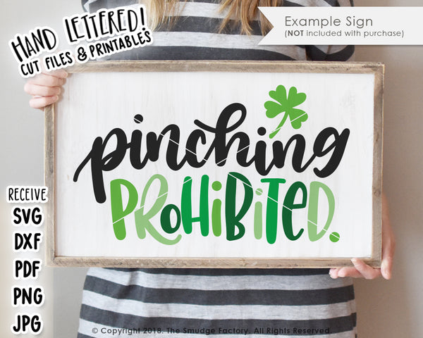 Pinching Prohibited SVG & Printable