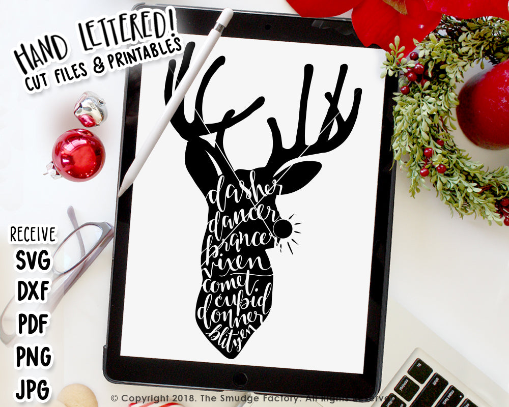 Reindeer SVG & Printable