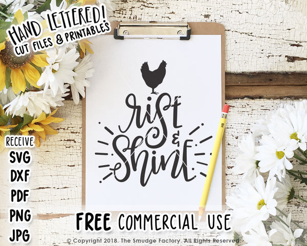 Rise & Shine SVG & Printable