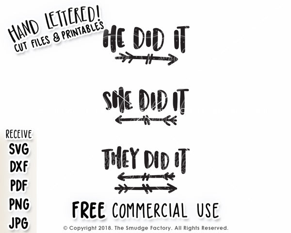 They Did It SVG & Printable Bundle Set