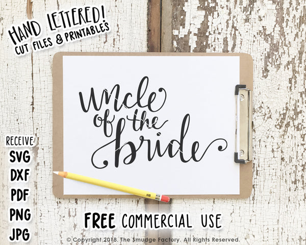 Uncle Of The Bride SVG & Printable