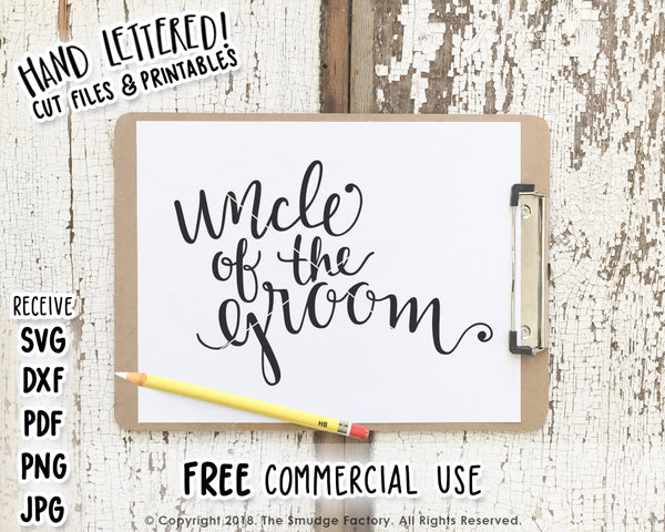 Uncle Of The Groom SVG & Printable