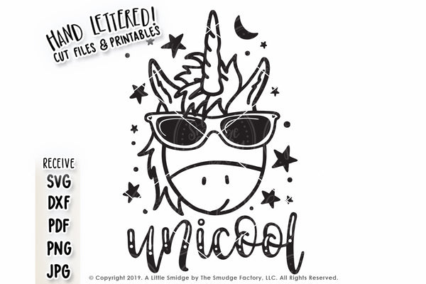 Unicool Unicorn SVG & Printable