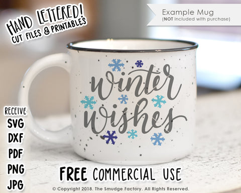 Winter Wishes SVG & Printable