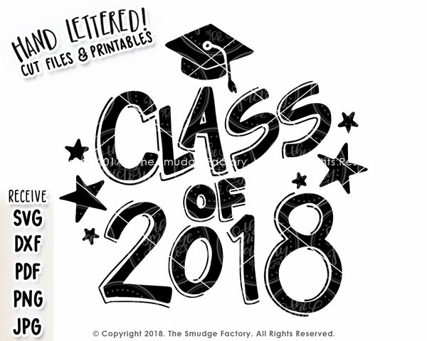 Class of 2018 SVG & Printable