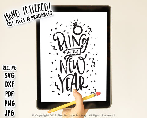 Bling In The New Year SVG & Printable
