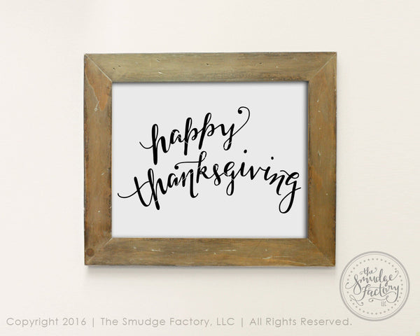 Happy Thanksgiving SVG & Printable