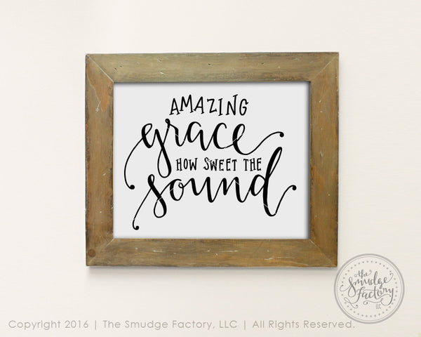 Amazing Grace SVG & Printable