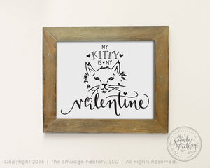 Kitty Cat Valentine's SVG & Printable