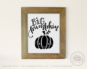Big Pumpkin SVG & Printable