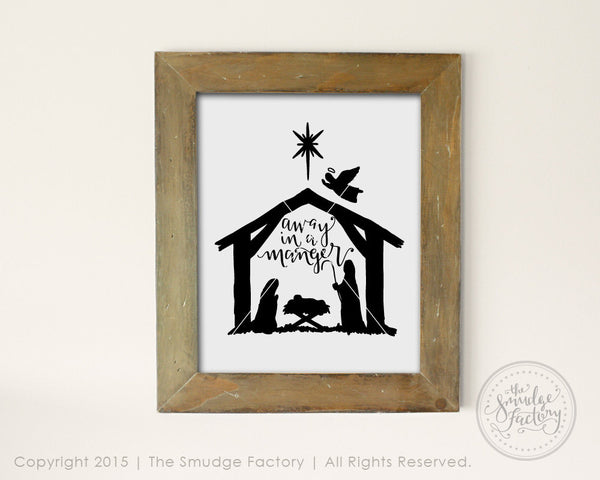 Away in a Manger SVG & Printable