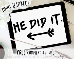 He Did It Baby SVG & Printable