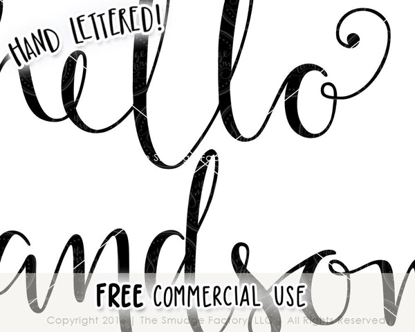 Hello Handsome SVG & Printable