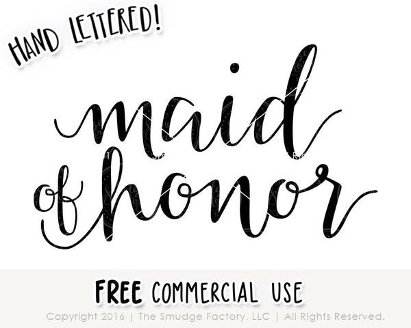 Maid Of Honor SVG & Printable