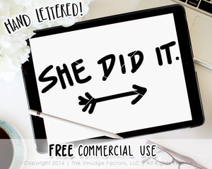 She Did It Baby SVG & Printable