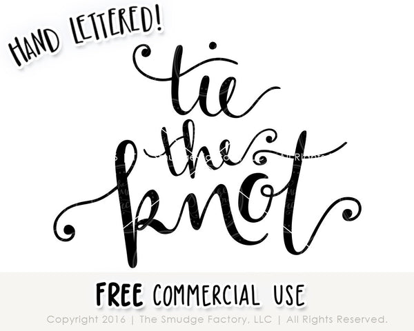 Tie The Knot SVG & Printable