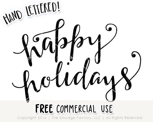 Happy Holidays SVG & Printable