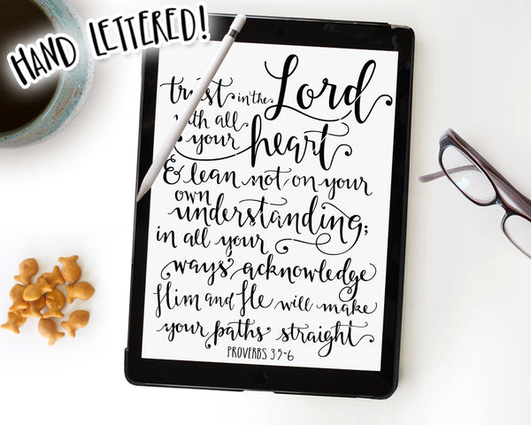 Proverbs 3:5-6 SVG & Printable