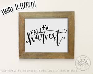 Fall Harvest Printable SVG & Printable