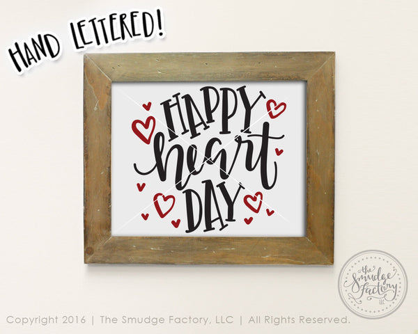 Happy Heart Day SVG & Printable