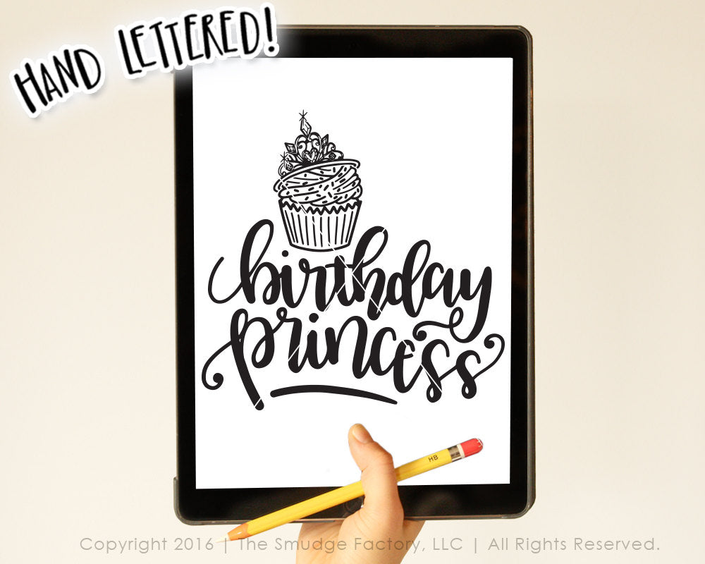 Birthday Princess SVG & Printable