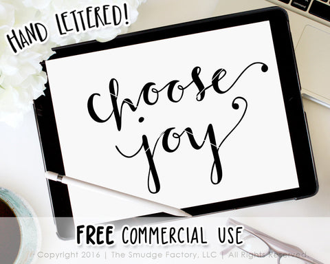Choose Joy SVG & Printable