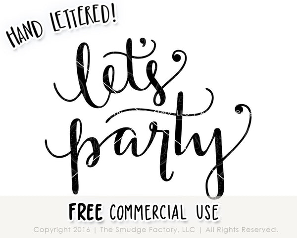 Let's Party SVG & Printable