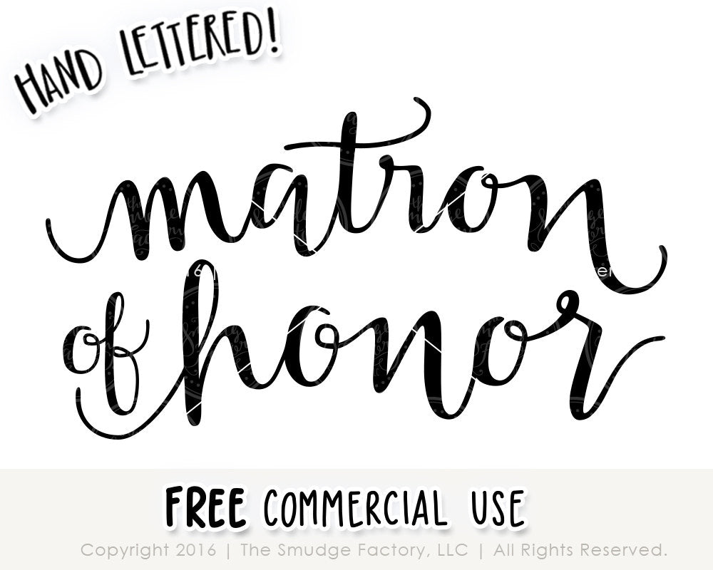 matron of honor svg printable the smudge factory