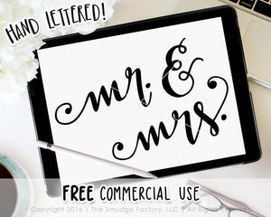 Mr. & Mrs. SVG & Printable