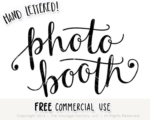 Photo Booth SVG & Printable