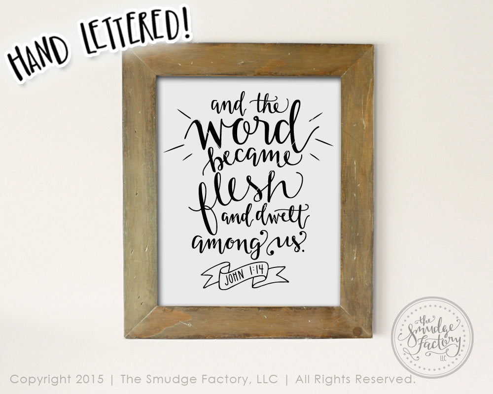 And the Word Became Flesh John 1:14 SVG & Printable