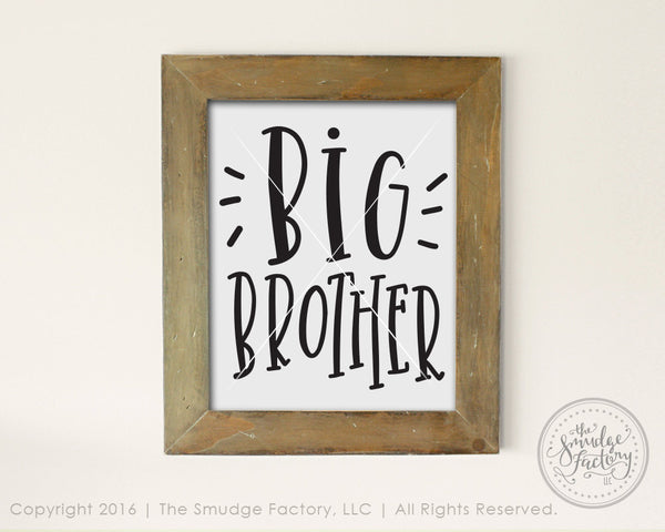 Big Brother SVG & Printable