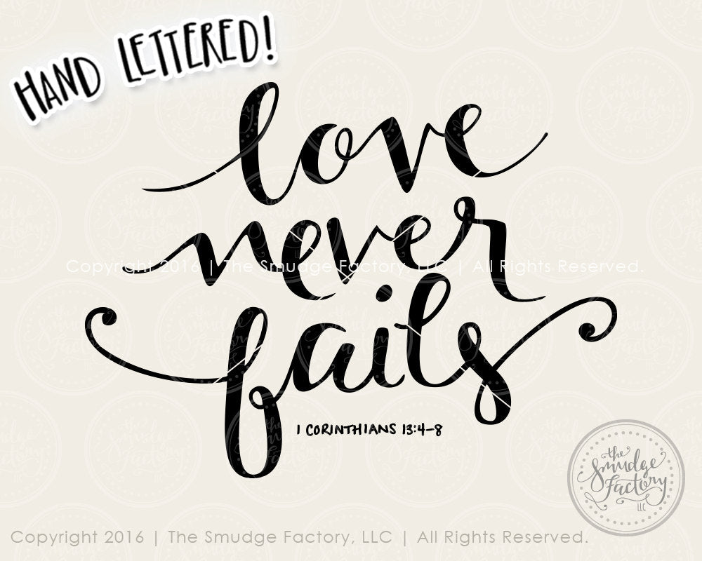 1137+ Love Never Fails Svg File