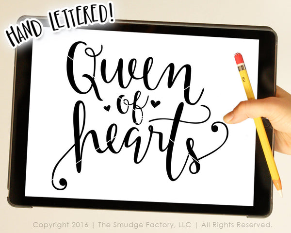 Queen of Hearts SVG & Printable
