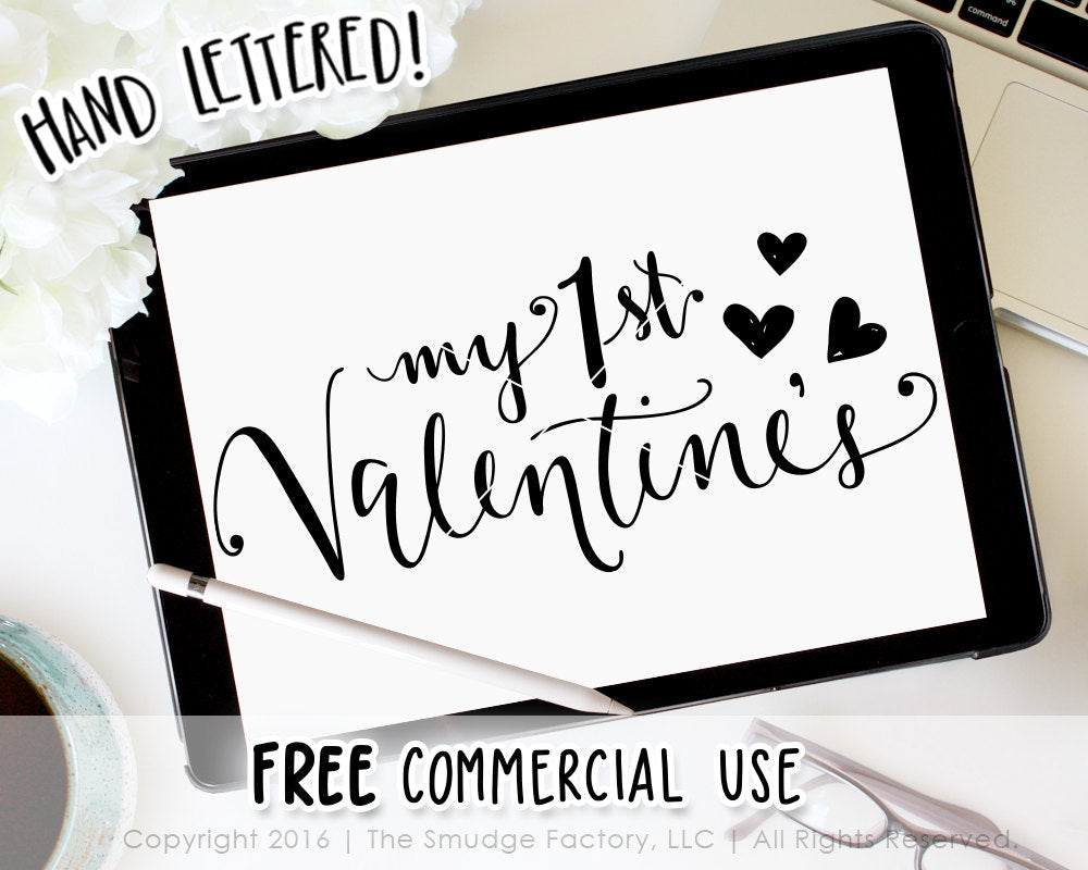 My First Valentine's Day SVG & Printable