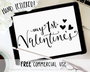My First Valentine S Day Svg Printable The Smudge Factory