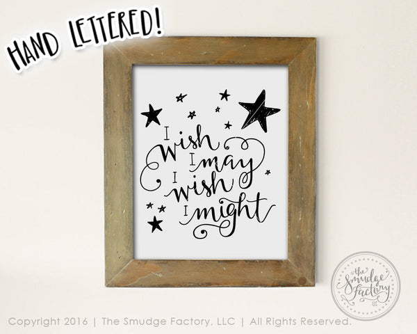 Wish I May, Star Light, Star Bright SVG & Printable