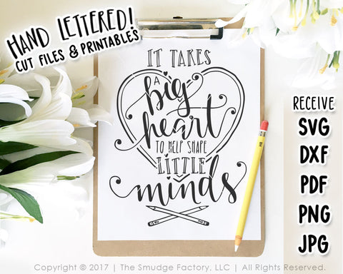 picture about It Takes a Big Heart to Shape Little Minds Printable known as Schooling College or university The Smudge Manufacturing facility