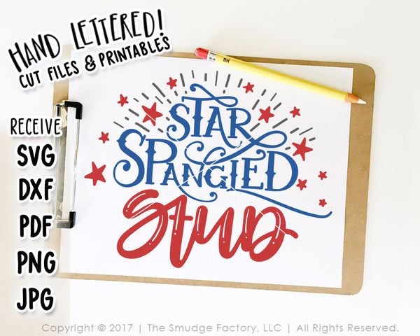 Star Spangled Stud SVG & Printable