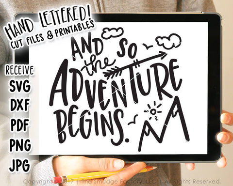 And So The Adventure Begins SVG & Printable