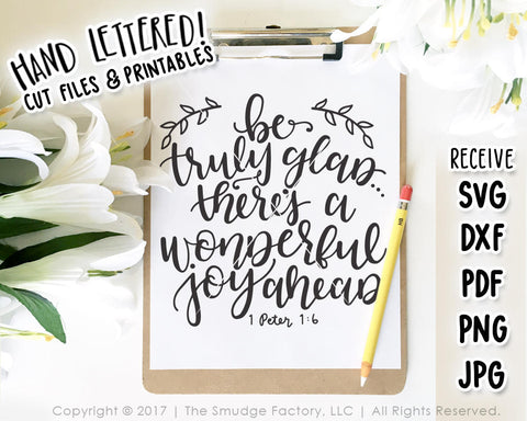 Wonderful Joy Ahead 1 Peter 1:6 SVG & Printable
