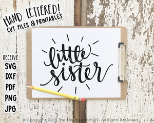 Little Sister SVG & Printable