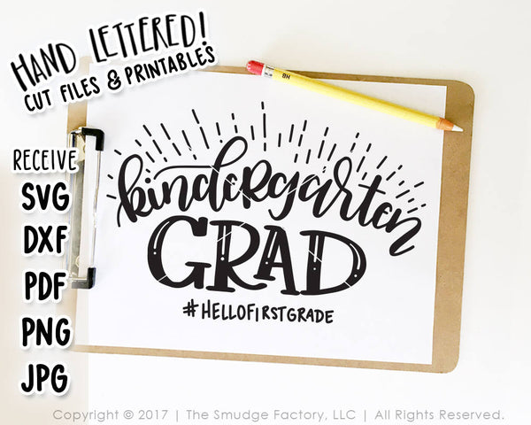 Kindergarten Grad SVG & Printable